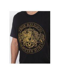True Religion Class Crest Ss Crew Neck T-shirt Colour: Truest Black, S for men