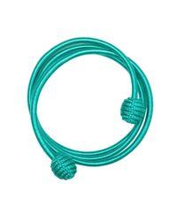 Kilometre Paris Blue Coil Twist Thread Bracelet