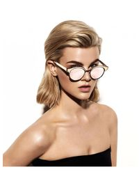 Le Specs - Pink Luxe Cleopatra Sunglasses - Lyst