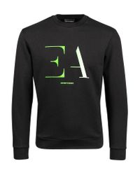 Emporio Armani Logo Sweatshirt Black 3h1m95 1j07z 0999 for men