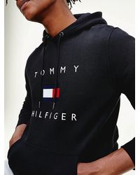 Tommy Hilfiger Men's Hoodie With Logo Black Mw0mw14203bds for men