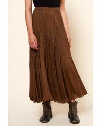 Mes Demoiselles Brown ...paris Phedre Bohemian Chic Silk Skirt