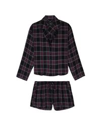 Rails Black Kellen Pyjama Set - Coal Slate Carmine