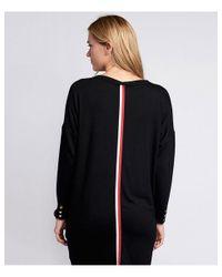 Barbour Black Stripe Back Trail Jumper Dress