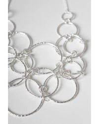 Atterley - Metallic Silver Textured Link Necklace - Lyst