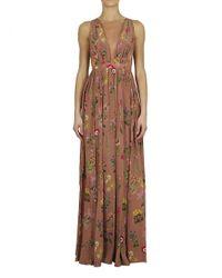 N°21 Brown Long Dress Powder
