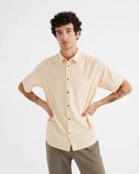 "Thinking Mu Natural Short Sleeve Shirt ""tom"" for men"