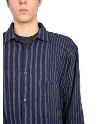 YMC Blue Striped Ryder Shirt for men
