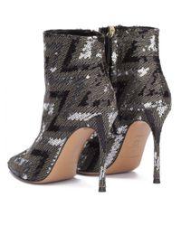 Atterley - Metallic Pura Lopez Nicole Sequined High Heel 9cm Ankle Boots - Lyst