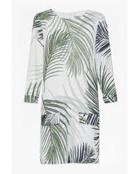 Great Plains - White Palm Print Dress - Lyst