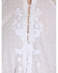 Tory Burch White Embroidered Tunic With Lace Inserts