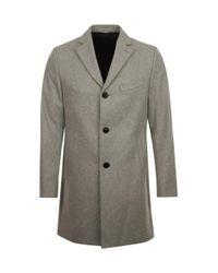 J.Lindeberg Gray Wolger Compact Melton Overcoat Grey for men