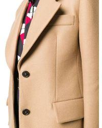 Prada Brown Women's P582is202w3qf0040 Beige Wool Jacket
