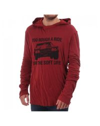 Juicy Couture Red Ls Hooded Top With Print
