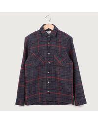 Wax London Wax Whiting Giant Tartan Overshirt, Black for men