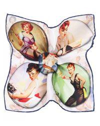 Ascot Accessories - Multicolor Silk Pin-up Pocket Square - Lyst