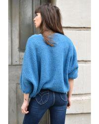 American Vintage Blue Siribay Capri Sweater
