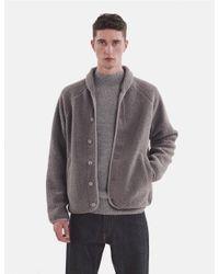 YMC Gray Beach Fleece Jacket for men