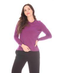 Allude Purple Knit Crew Neck S