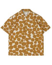 Universal Works Metallic Dot Print Road Shirt Gold for men