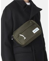 A.P.C. Green Protection Camera Bag for men