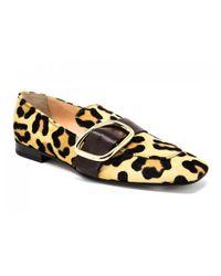 Rupert Sanderson Multicolor Charmer Loafer Leopard Ponyhair