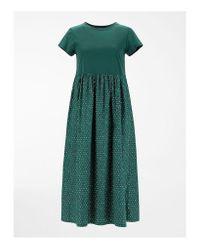 Weekend by Maxmara Green Weekend By Maxmara Palchi Jersey Pleated Midi Dress