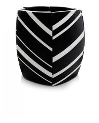 Monies - Black Striped Ebony Cuff Bracelet - Lyst