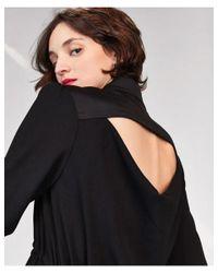 Tara Jarmon Black Dress With Elastic Waist