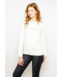 Maison Labiche White Paradise Sweater In Snow