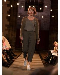 Transit Brown Quirky Trousers In Textured Taupe