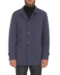 Brunello Cucinelli Blue Water-repellent Coat for men