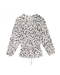 Rails White Marti Ivory Cheetah Blouse