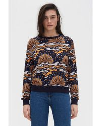 Rodebjer Blue Wells Navy Sunrise Sweater