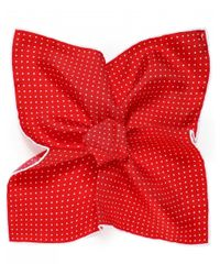 Ascot Accessories Red Silk Polka Dot Pocket Square for men