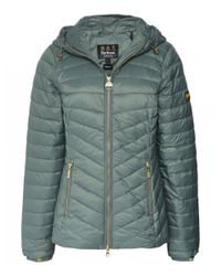 Barbour Ringside Chevron Quilted Jacket Colour: Green