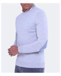 Stenstroms Gray Merino Wool Crew Neck Jumper for men