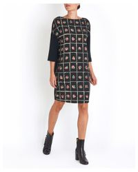 I'm Isola Marras - Straight Fit Floral Dress In Black - Lyst