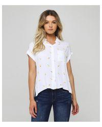 Rails White Whitney Citron Shirt