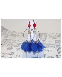 Atterley - Blue Ivy Earrings Hoops - Lyst