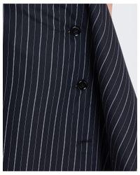 MM6 by Maison Martin Margiela Pin Striped Bottoned Skirt In Black