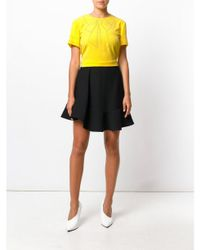 Boutique Moschino Yellow Studded Bow T-shirt