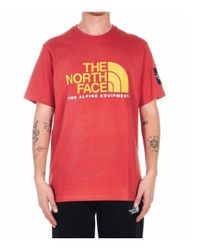 The North Face Red T-shirt With Logo for men
