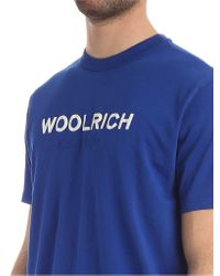 Woolrich Men's Wote0024mrut1486397 Blue Cotton T-shirt for men