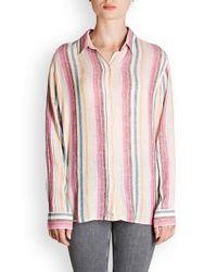 Rails - Pink Sydney Stripe Shirt - Lyst