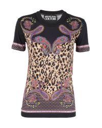 Versace Jeans Multicolor T-shirt Leopard