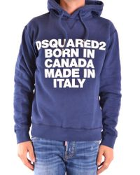 DSquared² Hoodie In Blue for men