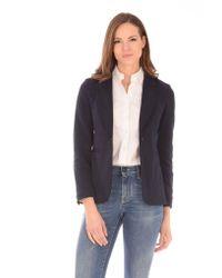 Tonello Blue Diagonal T Blazer Jacket