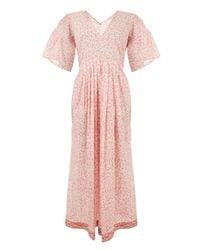 MASSCOB - Pink Indian Cotton Dress - Lyst