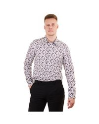 PS by Paul Smith White Tailored Fit Ls Floral Print Shirt for men